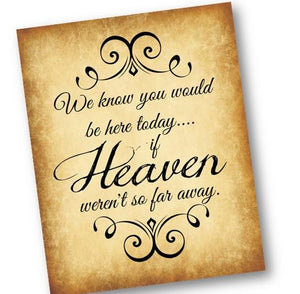 INSTANT DOWNLOAD - Heaven Wedding Sign for Loved One - Memorial Sign