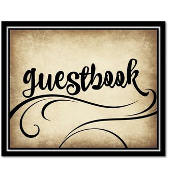 INSTANT DOWNLOAD - Sign Our Guestbook Sign - Wedding Decor - Rustic Swirl Script
