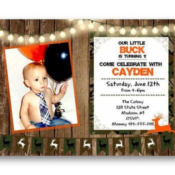 Photo Camouflage Birthday Invitation - Birthday Invitation