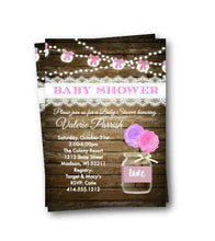 Rustic Purple Mason Jar Baby Shower Invitation Flyer - Baby Shower Invitation