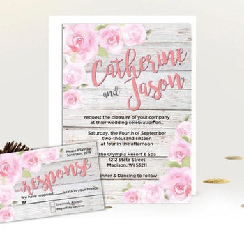 Rustic Rose Garden Wedding Invitation Set - Wedding Suite