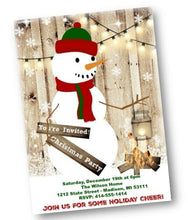 Snowman Christmas Holiday Party Invitation Flyer - Holiday Invitation