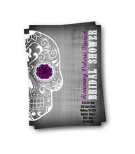 Sugar Skull Bridal Shower Invitation Flyer - Bridal Shower Invitation