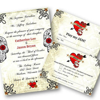 Sugar Skull Wedding Invitation Set - Wedding Suite