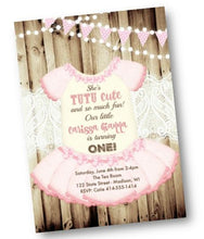 Tutu Ballerina Princess 1st Birthday Invitation Pink Tutu Invite Flyer - Holiday Invitation