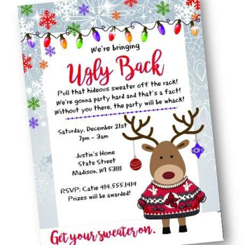 Ugly Sweater Christmas Holiday Party Invitation Flyer - Holiday Invitation