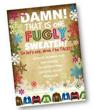 Ugly Sweater Invitation for Christmas Holiday Party Flyer - Holiday Invitation