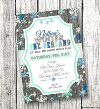Winter One-derland 1st Birthday Invitation Purple Onederland Snowflake Flyer - Holiday Invitation