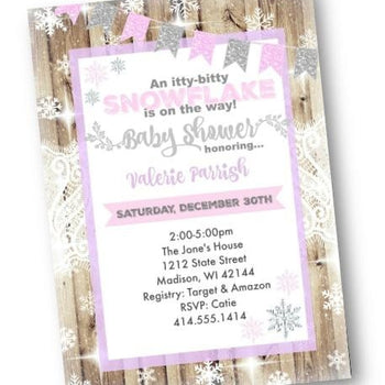 Winter Wonderland Baby Shower Invitation - Holiday Invitation