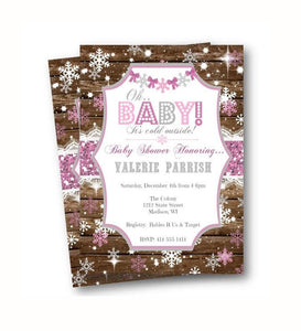 Winter Wonderland Baby Shower Invitation Flyer - Holiday Invitation