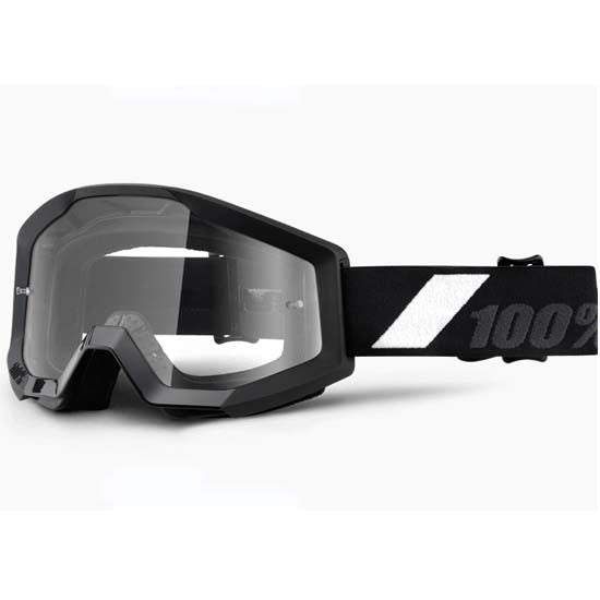 100% Strata Goggles DH Downhill MTB Bike Motocross MX Eyewear Goliath Black