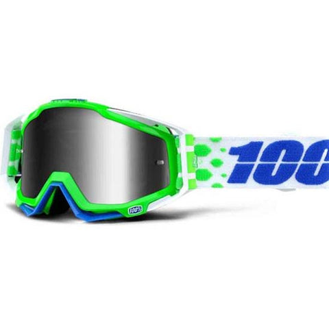 100% Racecraft Goggles Silver Mirror Lens DH Downhill MTB Bike Motocross Alchemy