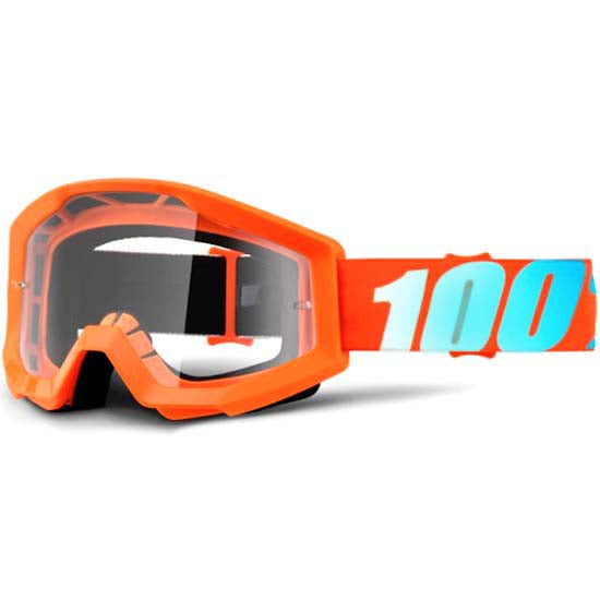 100% Strata Goggles DH Downhill MTB Mountain Bike Motocross MX Eyewear Orange