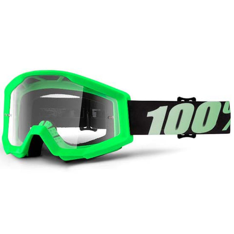 100% Strata Goggles DH Downhill MTB Mountain Bike Motocross MX Eyewear Green