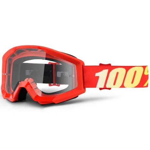 100% Strata Goggles DH Downhill MTB Mountain Bike Motocross MX Eyewear Red