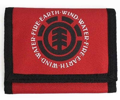 Element Elemental Wallet Mens Mans Boys Red Ripper Style