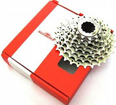 Nickel Plated 8 Speed Cassette MTB / Road Racing Bicycle Bike 11-28T Silver 8s
