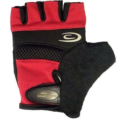 Padded Cycle Bicycle Cycling Bike Mitts Gloves Red Black Large * CLEARANCE