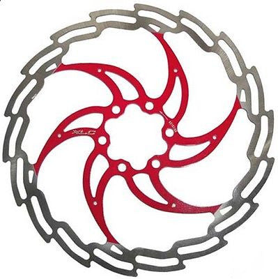 XLC 180mm 6 bolt mtb hydraulic disc brake rotor red