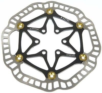Aztec Floating disc Brake Rotor 6 Bolt MTB Bicycle Bike