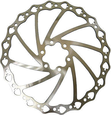 Acor Stainless Steel MTB Disc Brake Rotor 180mm 6 Bolt Bicycle Bike Spades Pattern