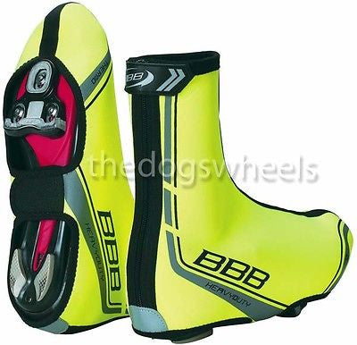 BBB Heavy Duty High Visibility 3mm Neoprene Cycle Cycling Overshoes Size 39 - 40