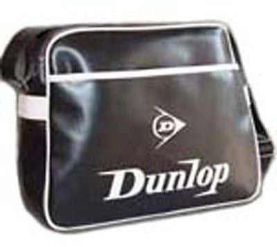 Dunlop Black Flight Shoulder School Student College Messenger Manbag Bag