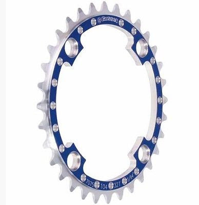 Gusset Tribal 32T 104BCD Chain Ring DH Downhill MTB Bike Single Chainring Blue