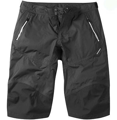 Madison Addict Mens Waterproof Baggy MTB Bicycle Bike Shorts Black