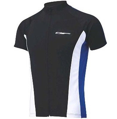 BBB Comfortfit Short Sleeve Jersey Black / Blue Road Racing Cycle Cycling Bike L