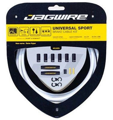 Jagwire Universal Brake Cable Cables Kit Set Road / MTB Bike Bicycle White