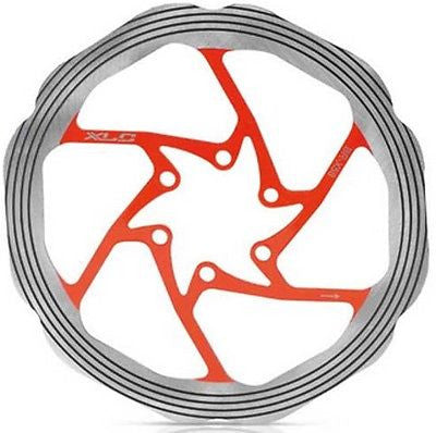 XLC 180mm 6 bolt mtb hydraulic disc brake rotor orange