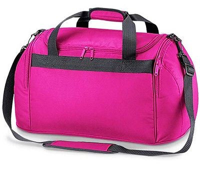 Compact Pink Holdall Sports Exercise Gym Overnight Weekend Travel Duffle Bag