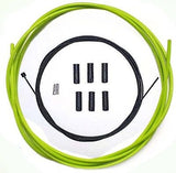 Teflon Coated inner Gear Cable Lined Green Outer Sealed Ferrules MTB Bike 2M
