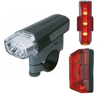 Topeak Aero Combo LED Light Set MTB Bicycle Bike Cycle Lights Front Rear LEDs