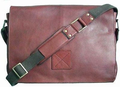 Mens Cognac Brown Leather Messenger Dispatch Student Business Bag Manbag Man Bag