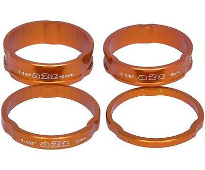 "A2Z Alloy Headset Spacers 1.1/8"" MTB Bike 3mm, 5mm, 8mm, 10mm Orange Spacer"