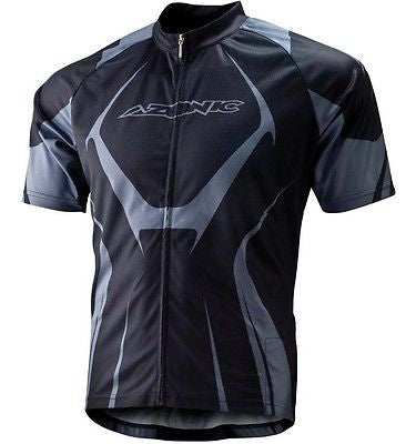 Azonic Generator Short Sleeve MTB Bike Cycle Jersey Short Top Black / Grey