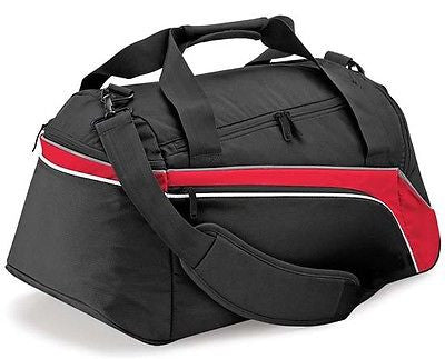 Holdall Sports Gym Exercise Weekend Overnight Travel Duffle Bag Red Black 44L
