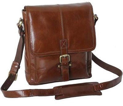 Chelsea A4 Brown Leather Messenger Shoulder Man Bag Manbag Office Bag