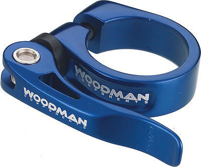 Woodman Deathgrip Q/R Seatpost Clamp Seat Post Clamp Quick Release Blue 31.8mm