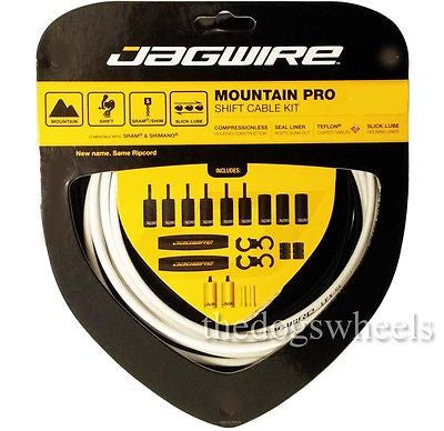 Jagwire Mountain Pro MTB Derailleur Gear Cable Cables Kit Set Bicycle Bike White