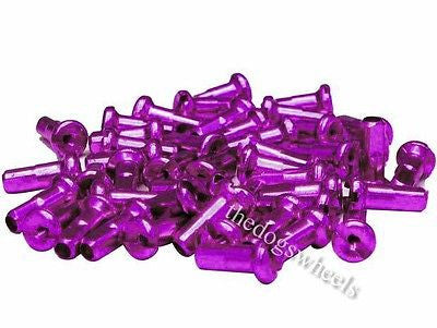 Halo Spoke Nipples 12mm Anodised purple alloy aluminium