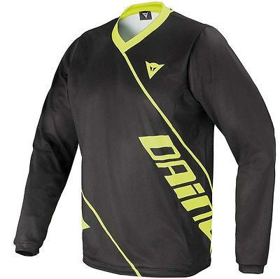 Dainese Basanite Long Sleeve DH Downhill MTB Bike Jersey Black Yellow