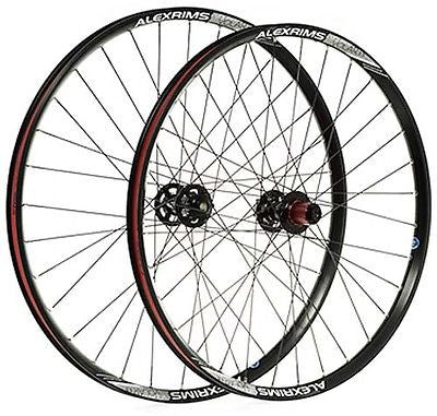 "Alex Chosen 26"" Front QR Quick Release Trail MTB Bike Tubeless Ready Wheel Black"