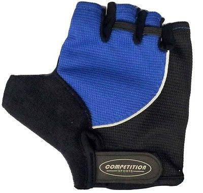 Padded Gel Cycle Bicycle Cycling Bike Mitts Gloves Blue Black Large * CLEARANCE
