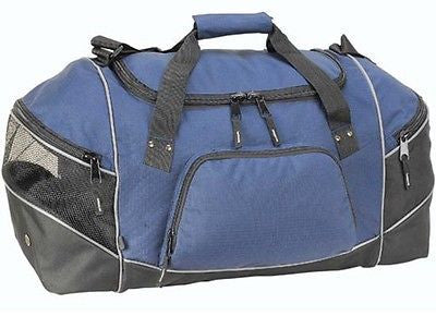 Sports Gym Holdall Duffle Overnight Weekend Travel Bag Mens Mans Blue