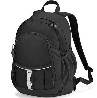 Black Backpack Rucksack Daypack Student College Work School Pack Bag