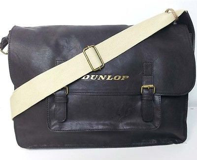 Dunlop Messenger Dispatch Shoulder Bag Satchel Brown Student College Manbag