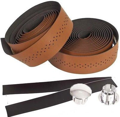 Genetic Classic Vintage Style Faux leather Drop handlebar Bar Tape Brown